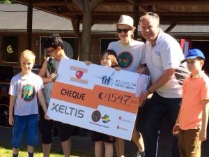CHEQUE VAN €4547 VAN XELTIS EN SCOUTING HELMOND